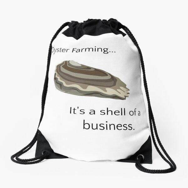 Oyster Farming Drawstring Bag