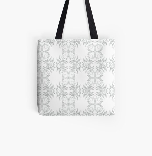 Peacock Feather All Over Print Tote Bag
