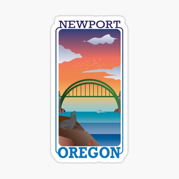Newport, Oregon - Project 101 Sticker