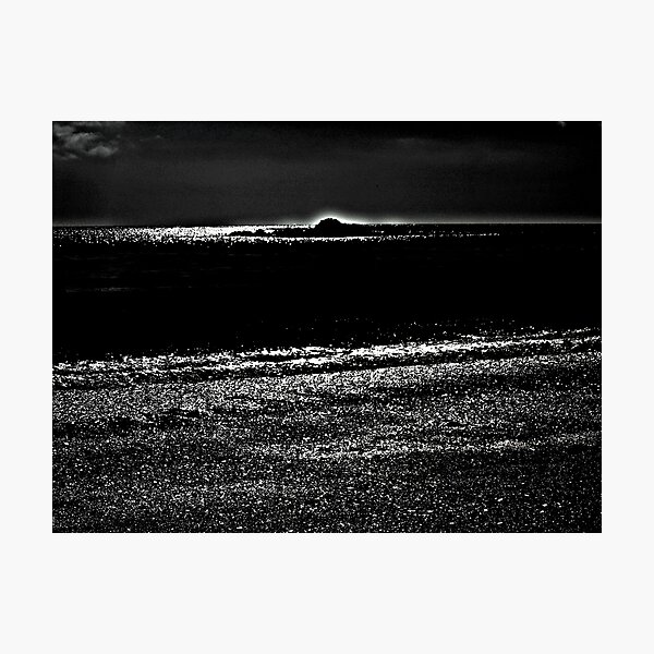 Night Glow on the Beach Photographic Print