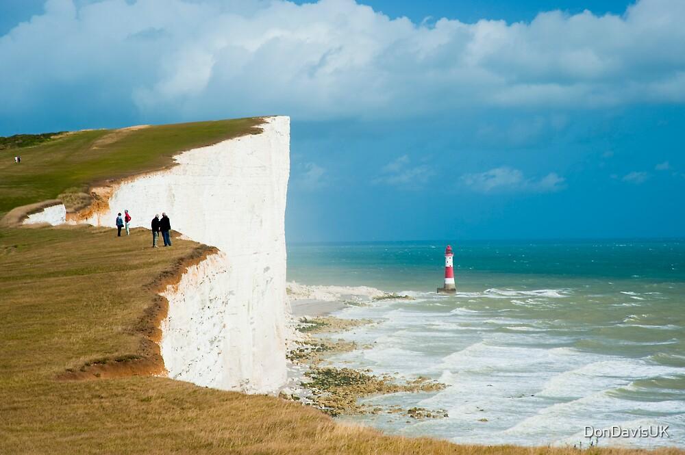 Beachy Head Clifftop and Lighthouse by DonDavisUK