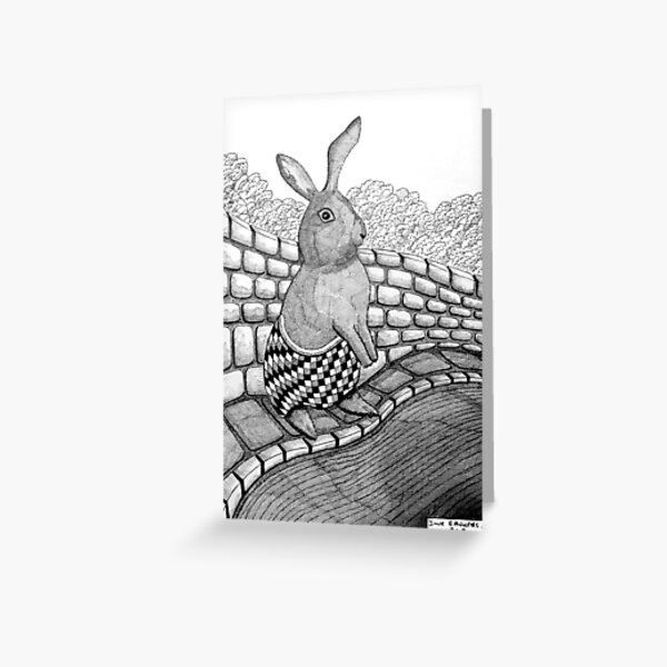 267 - BUNNY - DAVE EDWARDS - INK - 2018 Greeting Card