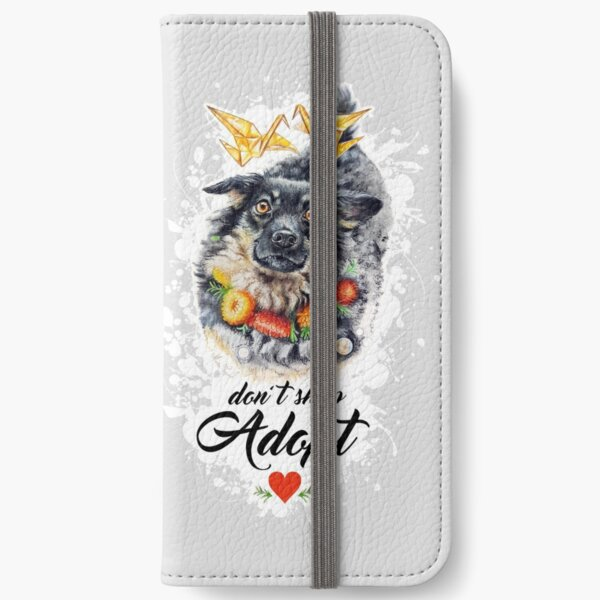 Don't shop, adopt! by Maria Tiqwah iPhone Wallet