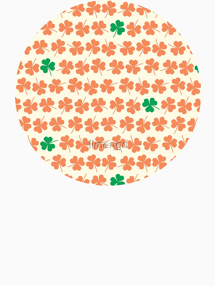 Orange & Green Shamrock Pattern by limengd