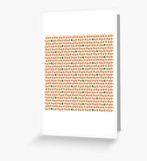 Orange & Green Shamrock Pattern Greeting Card