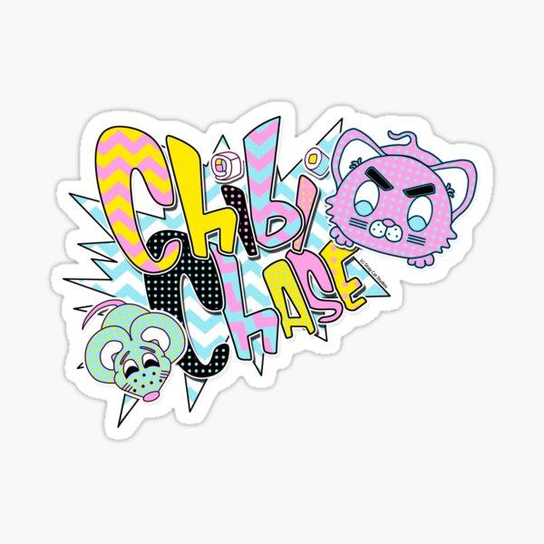 Chibi Chase Logo - Stray Cat Studios Sticker