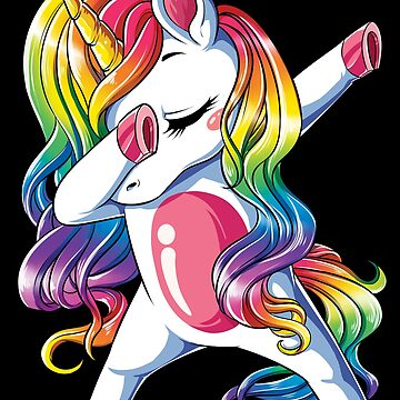 Dabbing Unicorn T Shirt Kids Girls Boys Rainbow Squad Cute Gifts Party by LiqueGifts
