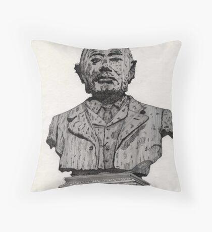 113 - MATTHEW WHITE RIDLEY STATUE - DAVE EDWARDS - INK - 1985 Throw Pillow