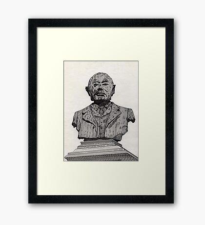113 - MATTHEW WHITE RIDLEY STATUE - DAVE EDWARDS - INK - 1985 Framed Print