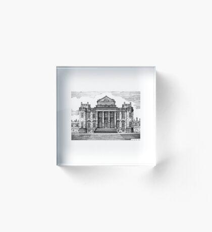 192 - SEATON DELAVAL HALL - DAVE EDWARDS - INK - 1992 Acrylic Block