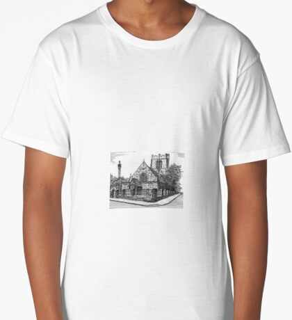 182 - ST. CUTHBERT'S CHURCH, BLYTH - DAVE EDWARDS - INK - 1991 Long T-Shirt