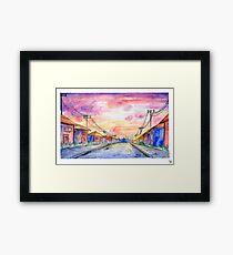 suburban watercolor Framed Print