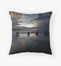 Coogee Clouds - Coogee Baths, NSW Throw Pillow