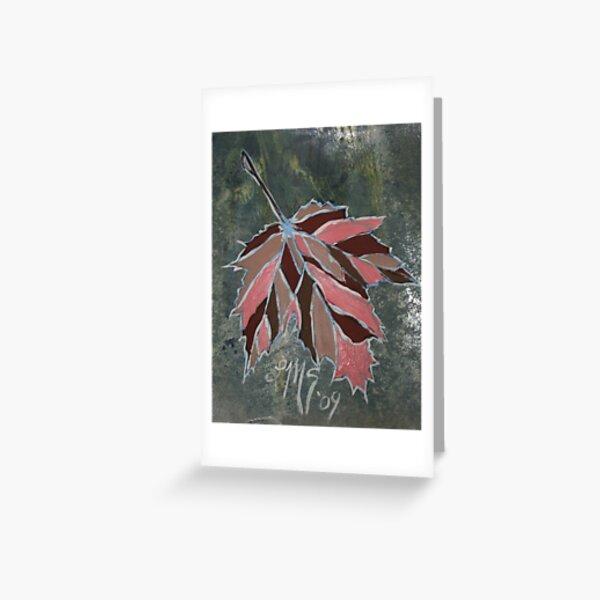 Cloisonne' Maple Leaf Greeting Card