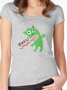 Critter Expletive  Women's Fitted Scoop T-Shirt