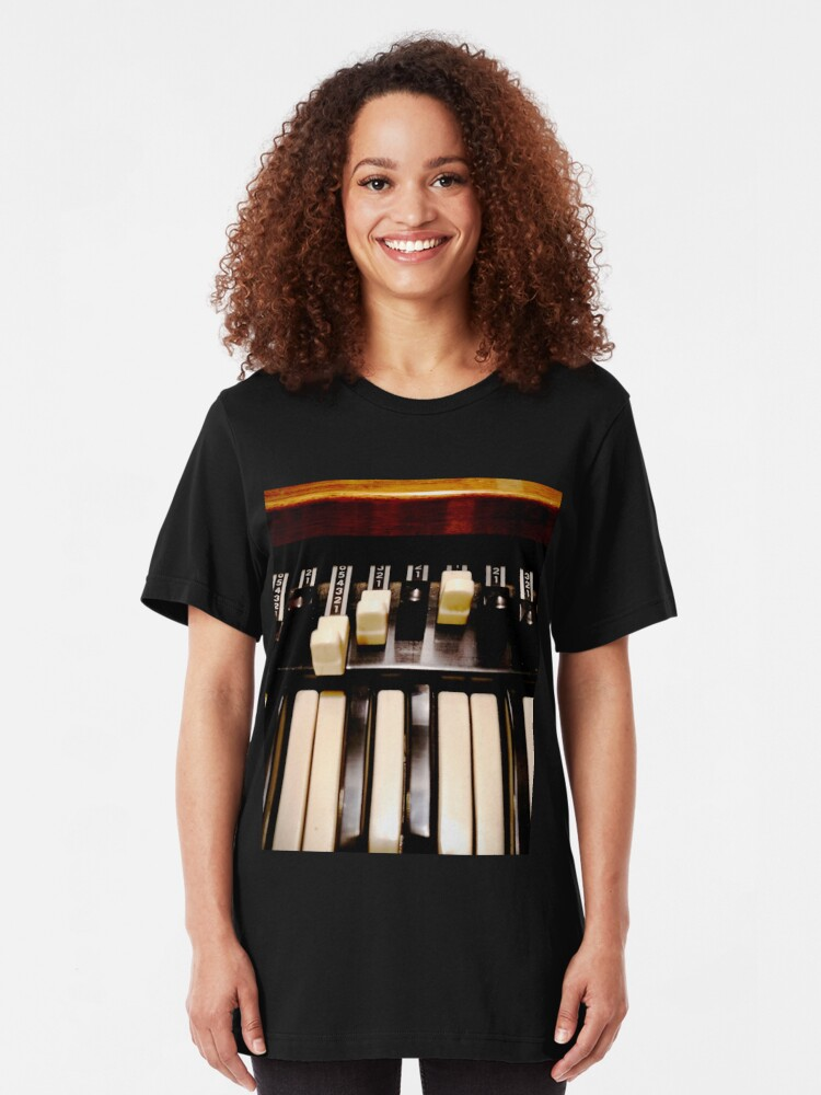 Alternate view of Hammond B3 Organ Slim Fit T-Shirt