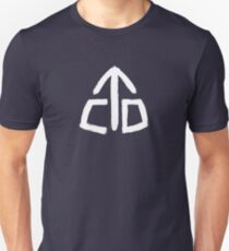 Continental Divide Trail White Painted Blaze CDT Symbol Slim Fit T-Shirt