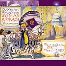 Women's March On Washington 1913, Women's Suffrage With Gorgeous Purple Embellishments,  by MHirose
