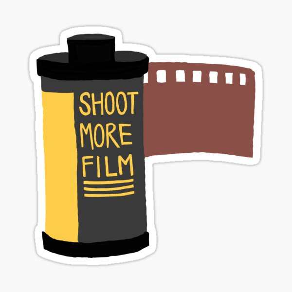 Shoot more film, photographer sticker  Sticker