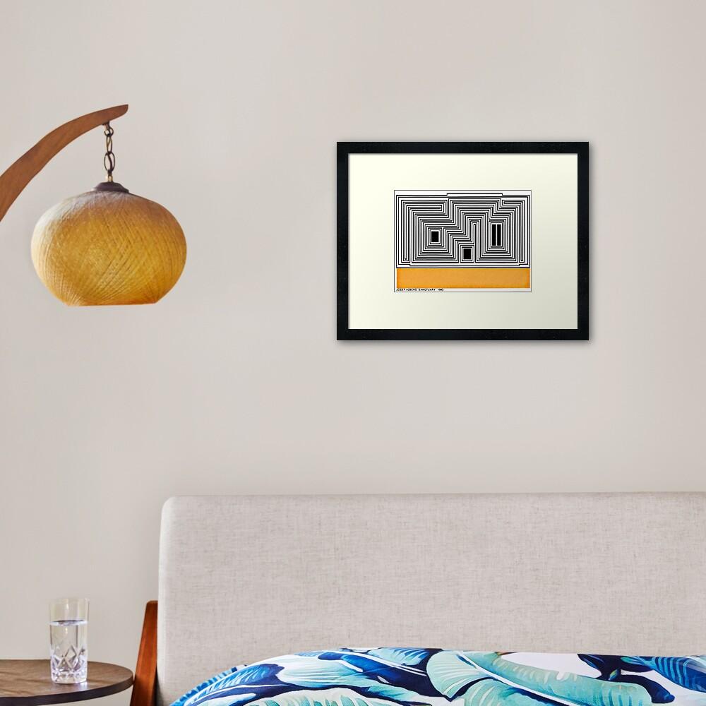 Vintage Bauhaus Design...by Josef Albers Framed Art Print