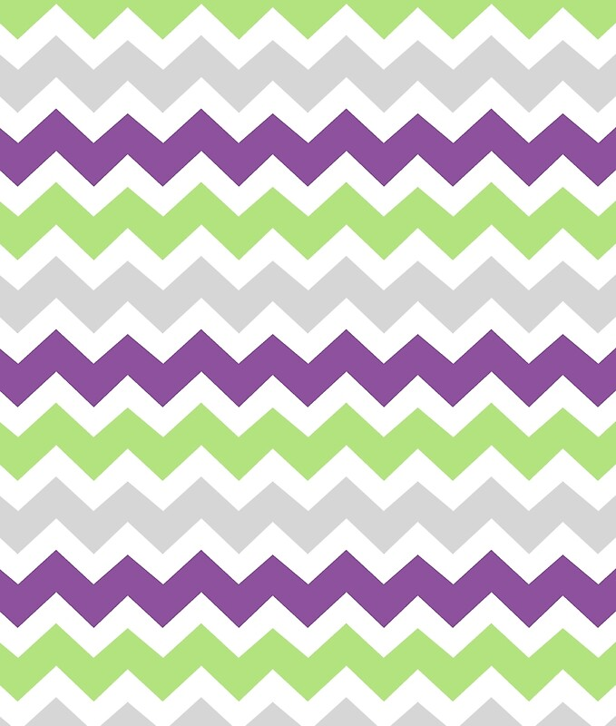 quotpurple lime green grey chevron patternquot canvas prints by