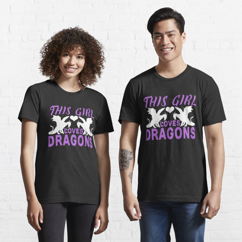 This Girl Loves Dragons Graphic T-Shirt Essential T-Shirt
