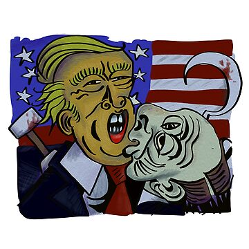 'The meeting of Two Evils' Trumputin Art by Ice-Tees