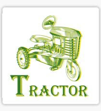 T is for Tractor Sticker