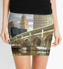 Detroit Superior Bridge Cleveland, Ohio Mini Skirt
