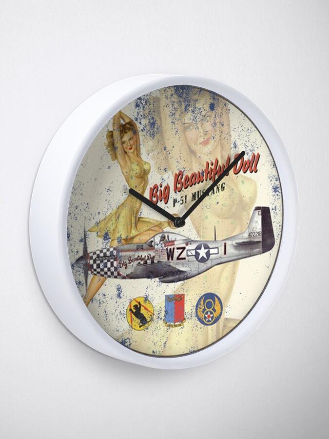 Alternate view of P-51 Mustang - Big Beautiful Doll Clock