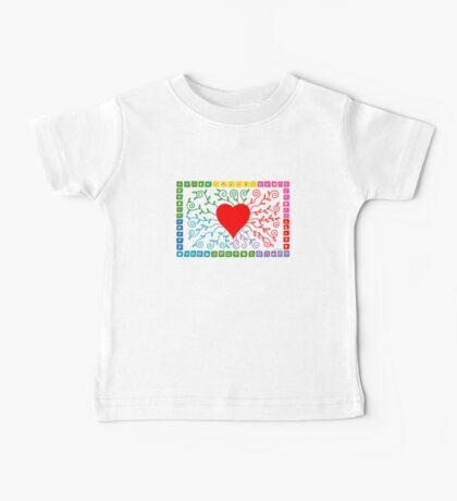 Rainbow Heart  Kids Clothes