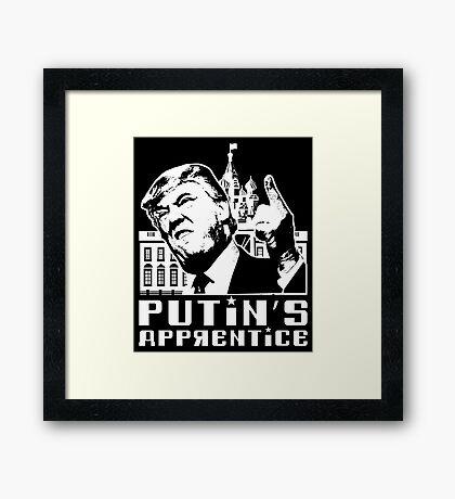 Putins Apprentice Anti-Trump T-shirt Framed Print