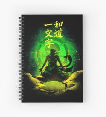 Straight Road of the Harmony - green Spiral Notebook