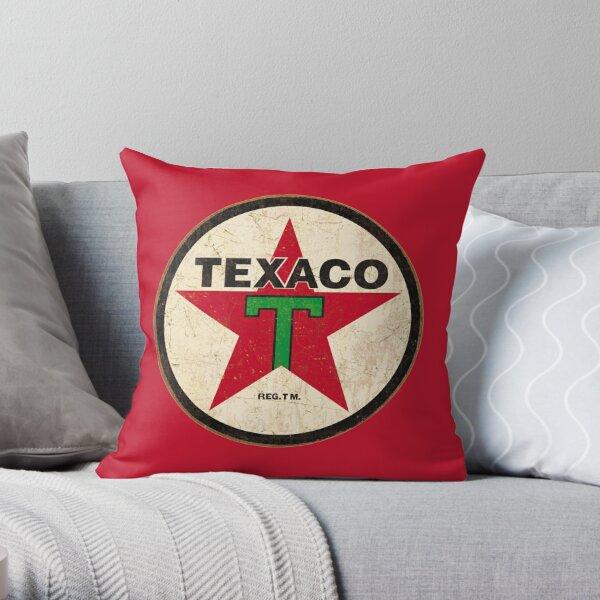 Texaco - Vintage Sign Throw Pillow