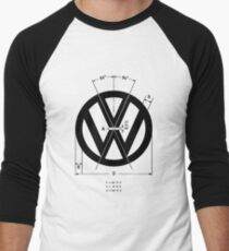 Volkswagen Logo Angles Men's Baseball ¾ T-Shirt