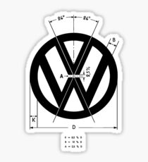 Volkswagen Logo Angles Sticker