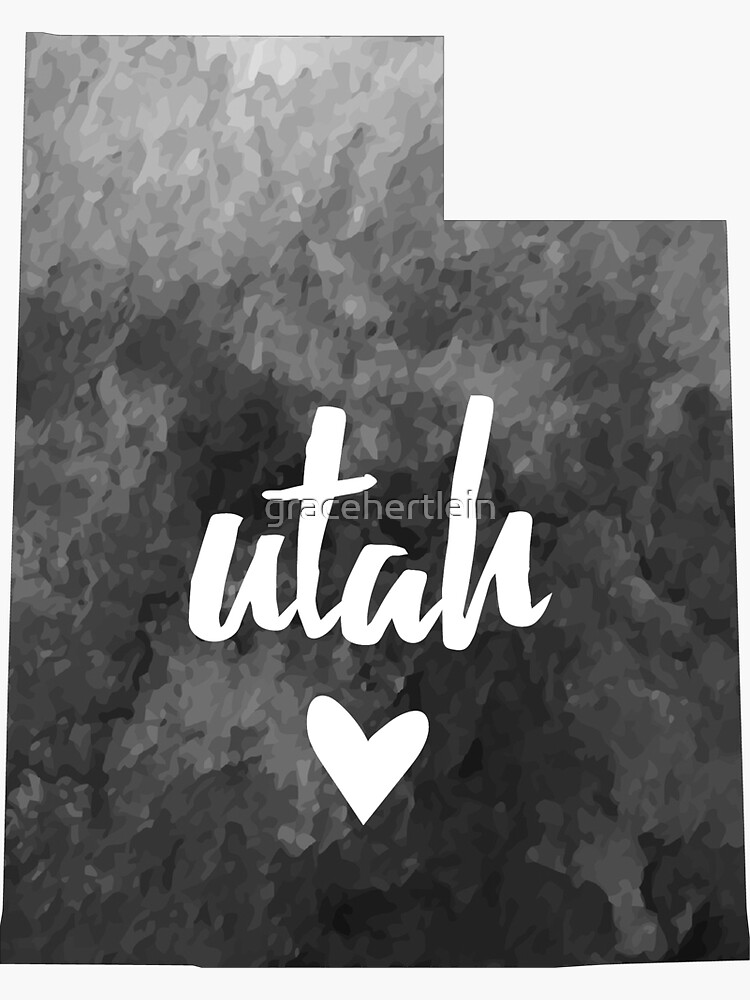 Utah - acuarela gris de gracehertlein