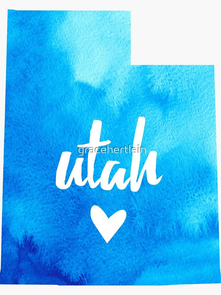 Utah - acuarela azul de gracehertlein