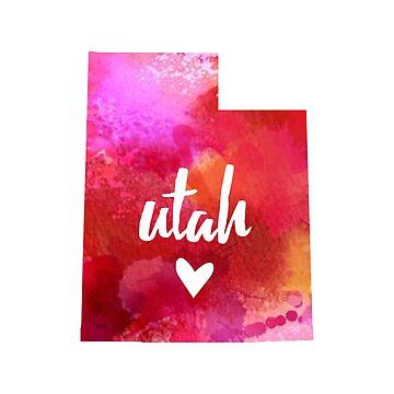 Utah - watercolor by gracehertlein