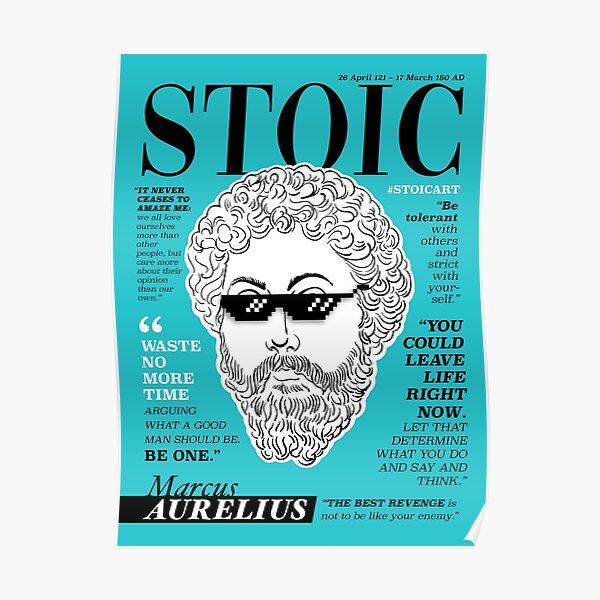 Cartel estoico. Marco Aurelio Póster