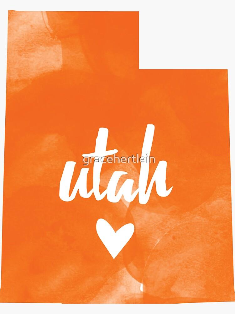 Utah - acuarela naranja de gracehertlein