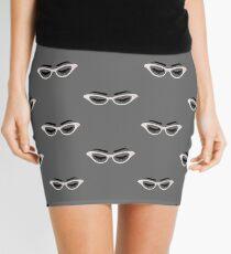 Lashes and Glasses Mini Skirt