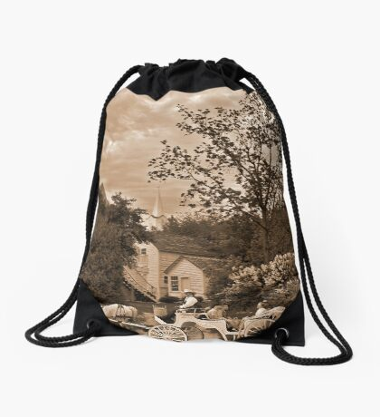 Lazy Sunday  Drawstring Bag