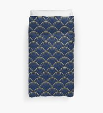 Blue and Gold Scales Duvet Cover