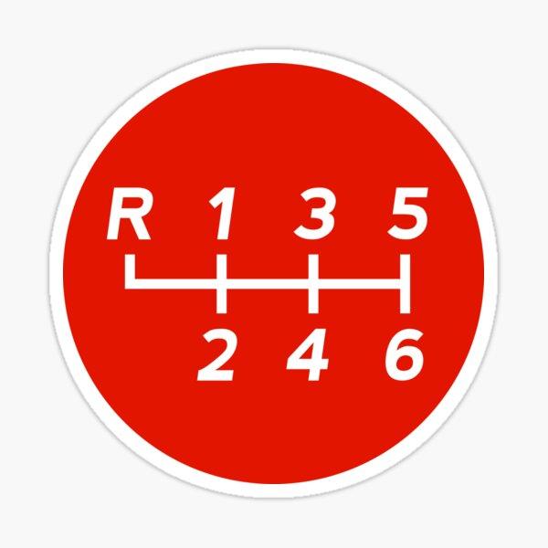 Red Manual Transmission Shift Pattern 1 Sticker