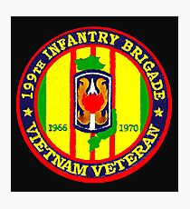 199th Infantry - Vietnam Veteran Photographic Print