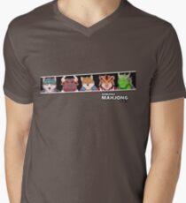 Kemono Mahjong Men's V-Neck T-Shirt