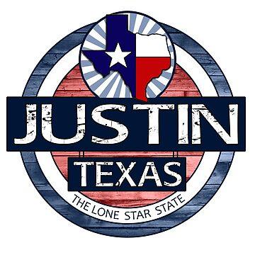 Justin Texas rustic wood circle by artisticattitud