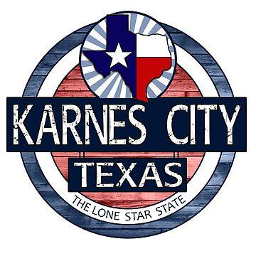 Karnes City Texas rustic wood circle by artisticattitud