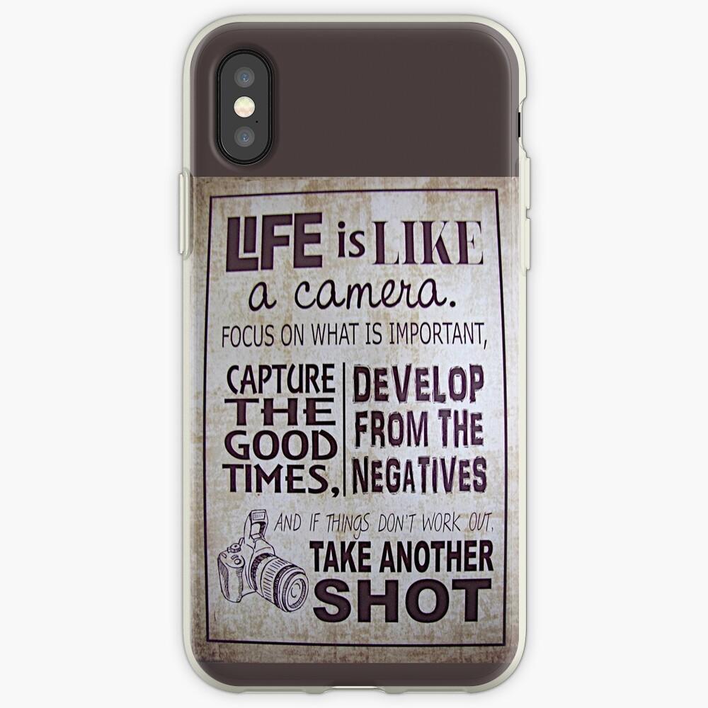 """""""Das Leben ist wie eine Kamera"""" iPhone-Hülle & Cover"""